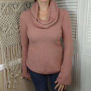 White House Black market cowl neckpink sweater